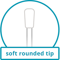 soft rounded tip